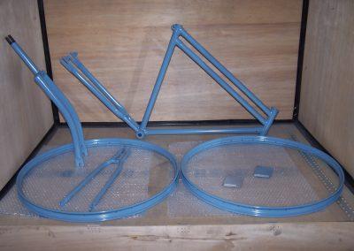 Dieses Bild dient zur Veranschaulichung das wir Fahrradrahmen und Felgen in unserer Hobby- und Mietwerkstatt in Düren-Lendersdorf pulverbeschichten können